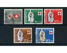 1957 - LOTTO/22320 - SVIZZERA - PRO PATRIA 5v. - USATI