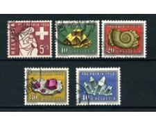 1958 - LOTTO/22321 - SVIZZERA - PRO PATRIA 5v. - USATI