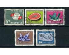 1959 - LOTTO/22322 - SVIZZERA - PRO PATRIA 5v. - USATI