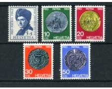 1962 - LOTTO/22329 - SVIZZERA - PRO PATRIA 5v. - NUOVI