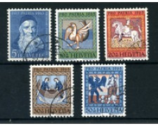 1965 - LOTTO/22337 - SVIZZERA - PRO PATRIA 5v. - USATI