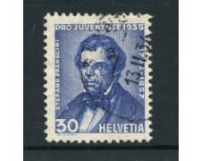 1935 - LOTTO/22342 - SVIZZERA - 30+10c. PRO JUVENTUTE - USATO