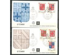 1980 - LOTTO/22379 - SMOM - STEMMI 2 BUSTE FDC