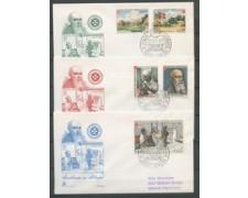 1973 - LOTTO/22384 - SMOM - LEBBROSARI 3 BUSTE FDC