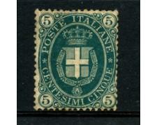 1889 - LOTTO/22399 - REGNO - 5 CENT. VERDE SCURO - NUOVO