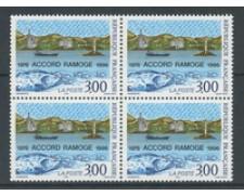 1996 - LOTTO/22413 - FRANCIA - ACCORDO RAMOGE - QUARTINA NUOVA