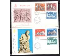 1961 - LOTTO/22618 - VATICANO - ARRIVO DI S.PAOLO - 2 BUSTE FDC