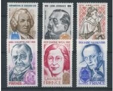 1979 - LOTTO/22625 - FRANCIA - PERSONAGGI FAMOSI 6v.- NUOVI