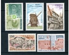 1979 - LOTTO/22642 - FRANCIA - SERIE TURISTICA 5v. - NUOVI