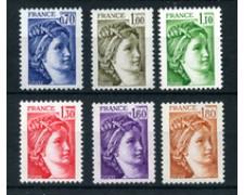 1979 - LOTTO/22644 - FRANCIA - TIPO SABINE  6v. - NUOVI
