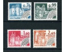 1980 - LOTTO/22660 - FRANCIA - PREANNULLATI  - MONUMENTI STORICI 4v. - NUOVI
