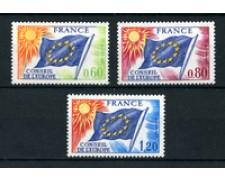 1975 - LOTTO/22661 - FRANCIA - CONSIGLIO EUROPA 3v. -  NUOVI