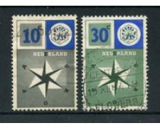 1957 - LOTTO/22669U - OLANDA - EUROPA 2v. -  USATI