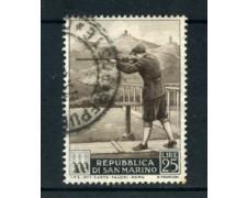 1953 - LOTTO/22676 - SAN MARINO - 25 Lire  TIRO A VOLO - USATO