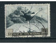 1953 - LOTTO/22677 - SAN MARINO - 100 Lire PATTINATRICE - USATO