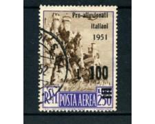 1951 - LOTTO/22678 - SAN MARINO - 100 Lire PRO ALLUVIONATI - USATO