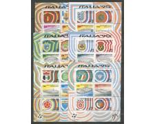 1990 - LOTTO/22680 - REPUBBLICA - COPPA DEL MONDO DI CALCIO 6 FOGLIETTI - NUOVI
