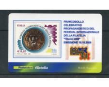 2008 - LOTTO/22702 - REPUBBLICA - FESTIVAL FILATELIA - TESSERA FILATELICA