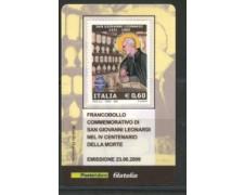 2009 - LOTTO/22727 - REPUBBLICA - S.GIOVANNI LEONARDI - TESSERA FILATELICA