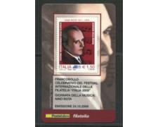 2009 - LOTTO/22729 - REPUBBLICA - NINO ROTA - TESSERA FILATELICA