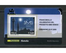 2009 - LOTTO/22730 - REPUBBLICA - SMS VENICE - TESSERA FILATELICA
