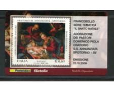 2009 - LOTTO/22731 - REPUBBLICA - NATALE - TESSERA FILATELICA