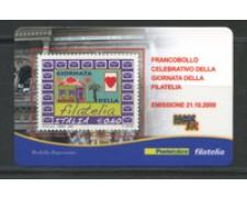 2009 - LOTTO/22734 - REPUBBLICA - GIORNATA FILATELIA - TESSERA FILATELICA