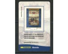 2010 - LOTTO/22742 - REPUBBLICA - SINDONE - TESSERA FILATELICA