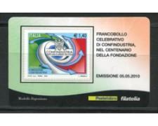 2010 - LOTTO/22743 - REPUBBLICA - CONFINDUSTRIA - TESSERA FILATELICA