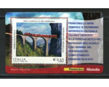 2010 - LOTTO/22744 - REPUBBLICA - FERROVIA RETICA - TESSERA FILATELICA