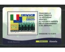 2010 - LOTTO/22746 - REPUBBLICA - AUTORITA GARANTE - TESSERA FILATELICA