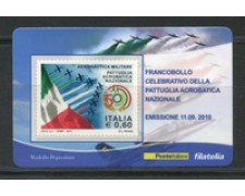 2010 - LOTTO/22748 - REPUBBLICA - PATTUGLIA ACROBATICA - TESSERA FILATELICA