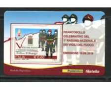 2010 - LOTTO/22749 - REPUBBLICA - VIGILI DEL FUOCO - TESSERA FILATELICA