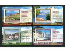 2010 - LOTTO/22750 - REPUBBLICA - TURISTICA 4 TESSERE FILATELICHE