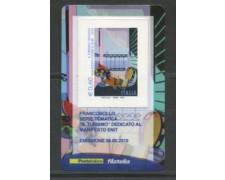 2010 - LOTTO/22751 - REPUBBLICA - MANIFESTO ENIT - TESSERA FILATELICA