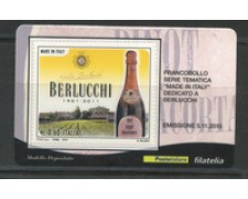 2010 - LOTTO/22752 - REPUBBLICA - BERLUCCHI - TESSERA FILATELICA