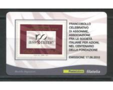 2010 - LOTTO/22753 - REPUBBLICA - ASSONIME - TESSERA FILATELICA
