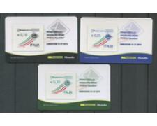 2010 - LOTTO/22757 - REPUBBLICA - POSTA ORDINARIA - 3 TESSERE FILATELICHE