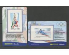 2010 - LOTTO/22761 - REPUBBLICA - OLIMPIADI - 2 TESSERE FILATELICHE