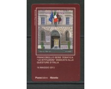 2013 - LOTTO/22819 - REPUBBLICA - QUESTURE - TESSERA FILATELICA
