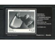 2013 - LOTTO/22820 - REPUBBLICA - E. GRECO - TESSERA FILATELICA