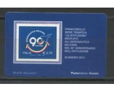 2013 - LOTTO/22821 - REPUBBLICA - AERONAUTICA - TESSERA FILATELICA