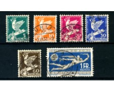 1932 - LOTTO/22836 - SVIZZERA - CONFERENZA DISARMO 6V. - USATI