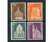 1967 - LOTTO/22850 - SVIZZERA - EDIFICI STORICI  4v. - NUOVI