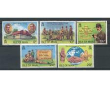 1982 - LOTTO/22908 - ISOLA DI MAN - SCOUTISMO 5v. - NUOVI