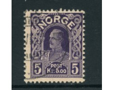 1910 - LOTTO/22919 - NORVEGIA - 5 K. RE HAAKON - USATO