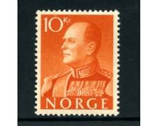 1959 - LOTTO/22924 - NORVEGIA - 10 K. ARANCIO Re Olav - Nuovo