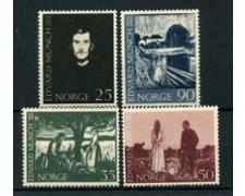1963 - LOTTO/22925 - NORVEGIA . E. MUNCH 4v. - NUOVI