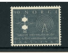1965 - LOTTO/22930 - NORVEGIA - 90 o.CENTENARIO U.I.T. - NUOVO