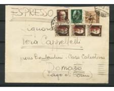 1944 - LOTTO/22993 - RSI - BUSTA ESPRESSO DA PRASOMASO  A COMO